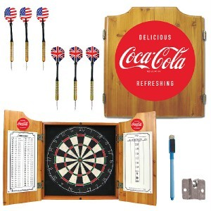 COCA COLA COKE SODA POP AD DART BOARD GAME FREE SHIPP