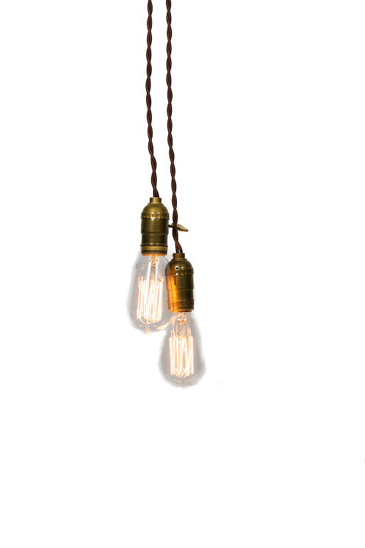 Simply Modern Vintage Double Pendant Light
