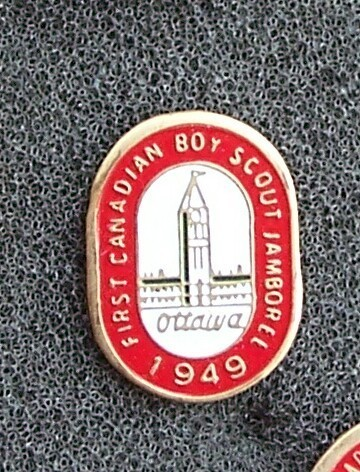 1st Canadian Boy Scout Jamboree Pin Ottawa 1949 Original