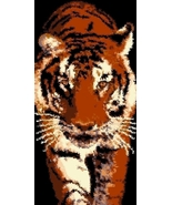 Latch Hook Rug Pattern Chart: PROWLING TIGER - ... - $5.75