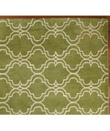 Sale Brand New Pottery Barn SCROLL TILE GREEN AREA RUG 8X10