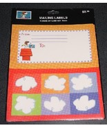 Peanuts Snoopy USPS Flying Ace mailing labels -... - $6.00