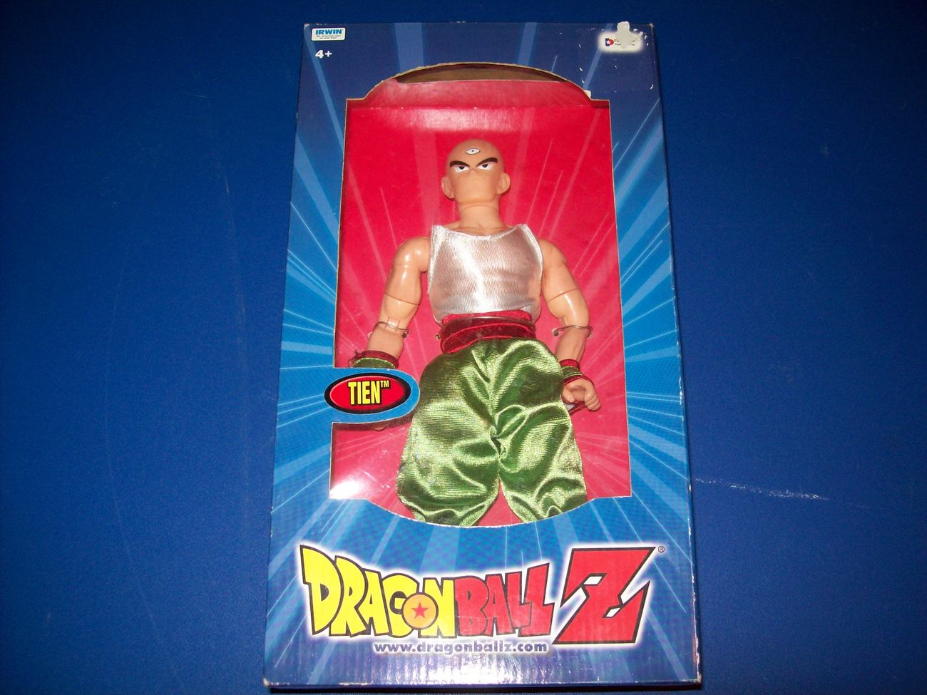 tien shinhan 10 11  dragonball z figure irwin toy  in box open to offers