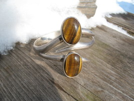 Tiger Eye Bracelet Mexico Sterling Silver Vinta... - $89.00