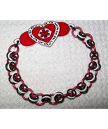 Custom Double Sided Heart Felt Medical Alert Br... - $18.00