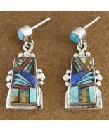 Inlaid Turquoise Semi Precious Stone Santa Fe S... - $215.87