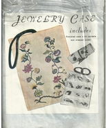 Embroidery Jewelry case kit Vtg  1980