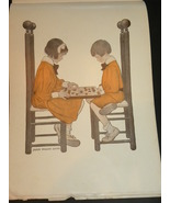 Antique Picture Lithograph A Friendly Game Jess... - $19.99