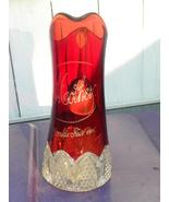 Antique Pitcher Glass Ruby Flash Worlds Fair Mo... - $300.00