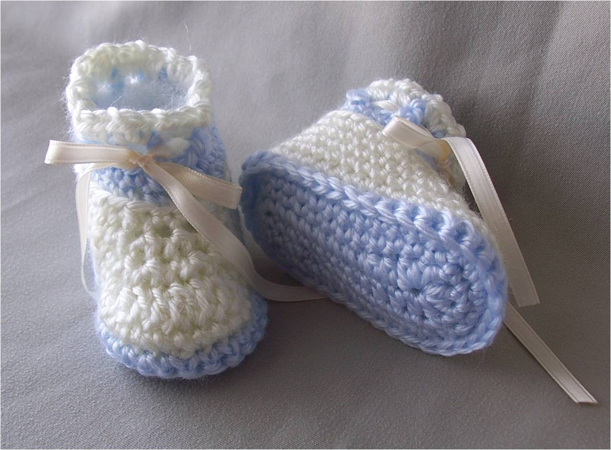 Beginner Crochet Baby Booties Pattern Free : free crochet patterns for baby booties for beginners