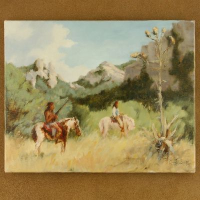 Southwestern Indian Waiting Painting Limited Edition Giclee Print Art