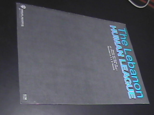 Sheet Music The Lebanon Human League 1984 6 pgs Jo Callis and Phil Oakey A&M