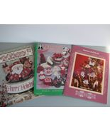Christmas Decor Rag Baskets Dolls Wooden Orname... - $8.93