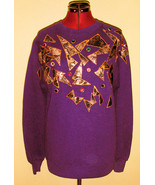 Hot 80's Vintage Purple Avant Garde Sweatshirt ... - $10.00