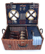 RIVIERA COLLECTION WILLOW PICNIC BASKET DELUXE ... - $136.00