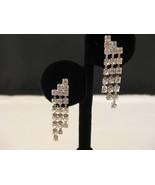Austrian Crystal Chandelier Earrings Silvertone... - $14.00
