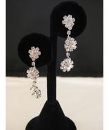 Austrian Crystal Flower Chandalier Earrings New - $16.00