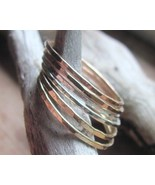 Set of 5 Modern Stack Rings Bands Rose Gold Yel... - $59.00