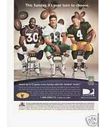 Direct TV magazine AD - Marino Davis Favre - $10.00
