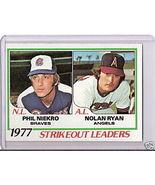 1978 Topps Baseball Nolan Ryan/Phil Niekro #206 - $6.00