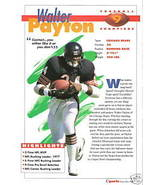 Sports Heroes, Feats & Facts Walter Payton - $10.00