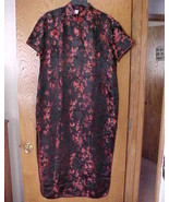 Ladies Large NWOT  Size Oriental Dress Red & Black - $15.00