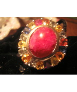 Gemstone Ring Multiple Color Gorgeous Jewelry O... - $65.00