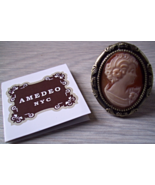 AMEDEO NYC 25MM CORNELIAN ANTIQUED RING SIZE 7 - $25.00