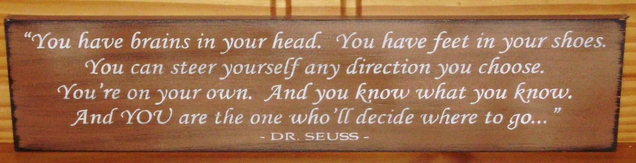 Dr. Seuss Inspirational Sign New Baby Gift Nursery Graduation Baptism Kid&#39;s Room