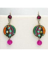 Signed ADAYA Maya Micro Mosaic Earrings - $42.00