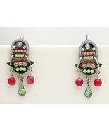 Signed ADAYA Maya Rayten Micro Mosaic Earrings - $29.00