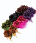 Two piece glittering flower hair clip 2.5