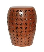 COPPER, Burnt Orange, LATTICE Ceramic GARDEN ST... - $299.00