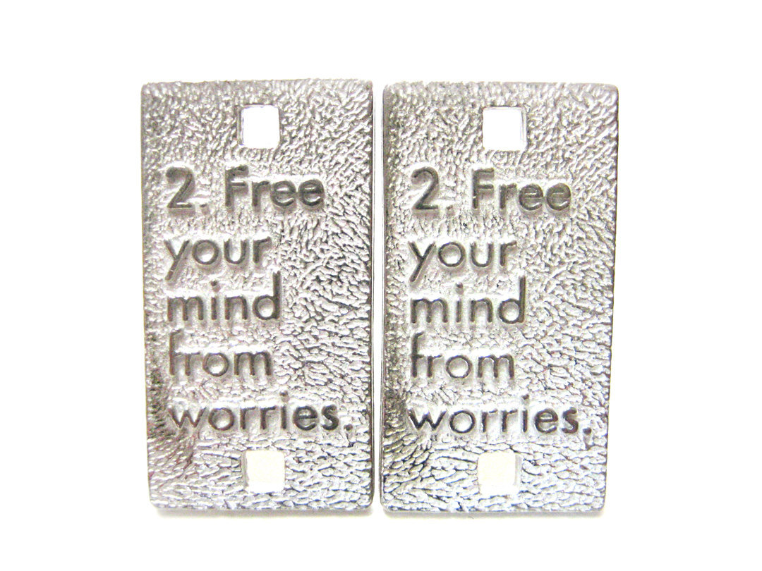 Rules for Happiness Cufflinks: Free Your Mind From Worries