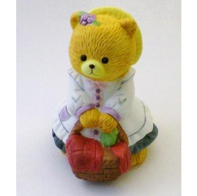 Bronson Figurine Bear Picnicking Penelope by Katharine Stevenson