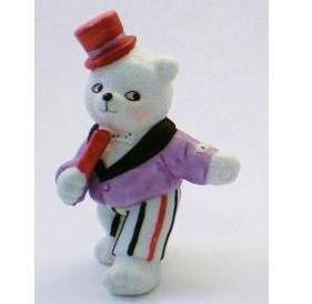 Bronson Figurine Bear Top Hat Tim by Katharine Stevenson