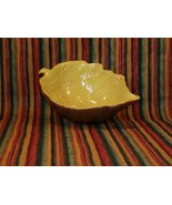 Ceramic Leaf Shaped Bowl - Brown & Yellow - Gre... - $3.49