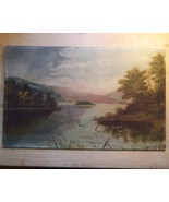American Hudson River Landscape Oil Painting  - $179.00