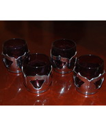 Farber Bros Krome Kraft Cambridge Shot Glasses Amethyst Set  - $49.25