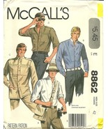 McCall&#39;s Pattern 8862 Mens Shirt New