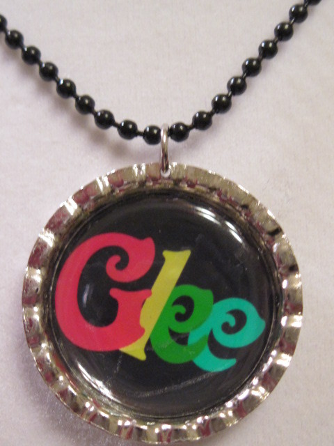 Glee bottle cap necklace