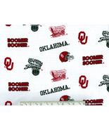 OU Boomer Sooner Fabric, Oklahoma cotton quilti... - $10.98