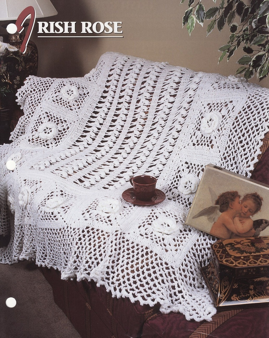 Irish Lace Afghan or Bedspread floral crochet pattern | eBay