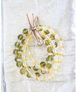 4 Elegant Bohemian Olive, Lemon & Crystal Cut ... - $12.95