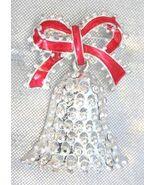 Festive AAi Crystal Rhinestone Silvery Bell Chr... - $14.95