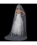 Beaded Ivory Cathedral Length Bridal Wedding Ve... - $109.99