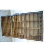 Antique HAMILTON Printers Drawer Tray Shadowbox Curio - $40.00