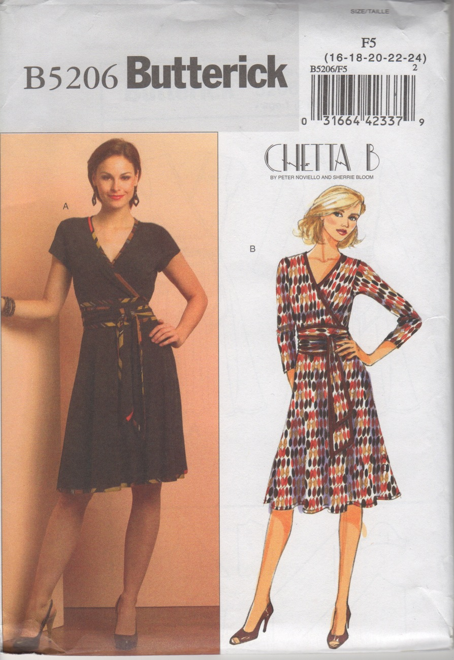 Butterick B5206 OOP Chetta B Dress Sewing Pattern - Sizes 16-24