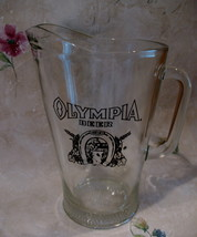 Vintage Olympia Beer Pitcher Good Luck Horseshoe  - $24.99