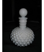 Vintage Milk Glass Hobnail Perume Decanter - $14.06